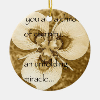 Ornamento De Cerâmica flor de pavão