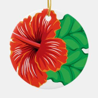 Ornamento De Cerâmica Flor do hibiscus