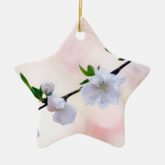 Ornamento De Cerâmica Flor do pêssego