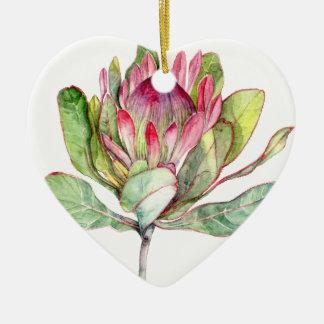 Ornamento De Cerâmica Flor do Protea