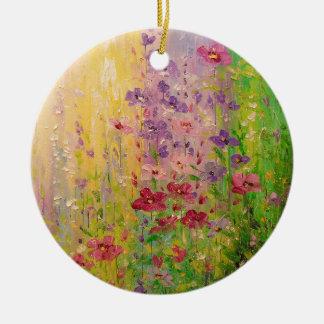 Ornamento De Cerâmica Flor do Shimmer
