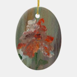 Ornamento De Cerâmica Flor elegante floral impressionista bonito