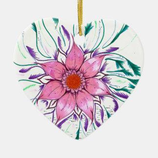Ornamento De Cerâmica Flor emplumada