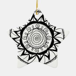 Ornamento De Cerâmica Flor espiral da mandala