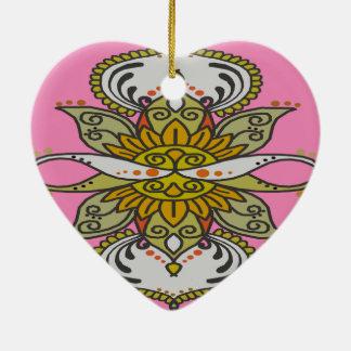 Ornamento De Cerâmica flor étnica abstrata