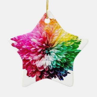 Ornamento De Cerâmica Flor Multicoloured bonita do mosaico