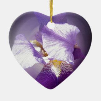 Ornamento De Cerâmica flor roxa da íris