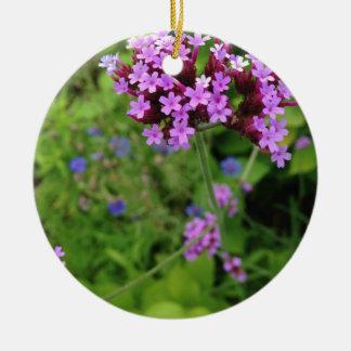 Ornamento De Cerâmica Flor roxa de Penland: Sallie por meu lado