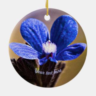 Ornamento De Cerâmica Flor selvagem azul