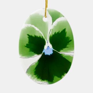 Ornamento De Cerâmica Flor verde 201711d do amor perfeito