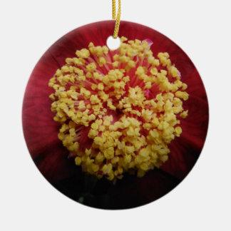 Ornamento De Cerâmica flor vermelha