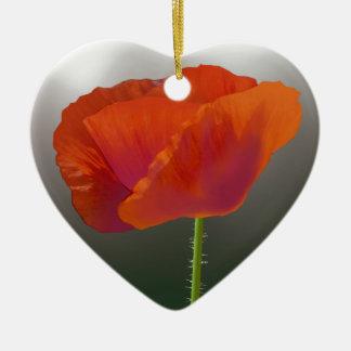 Ornamento De Cerâmica Flor vermelha da papoila