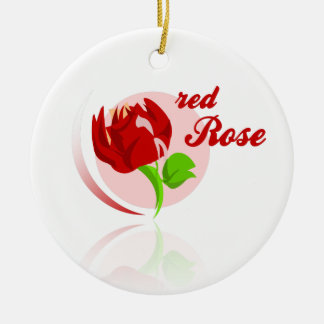 Ornamento De Cerâmica Flor vermelha dos inimigos