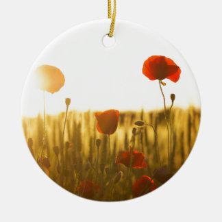 Ornamento De Cerâmica Flor vermelha perto da flor branca durante o dia