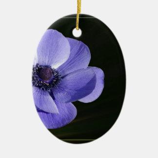 Ornamento De Cerâmica Flor violeta