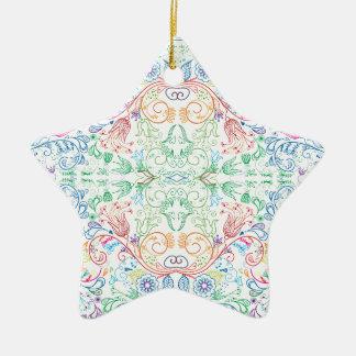 Ornamento De Cerâmica Floradore - branco