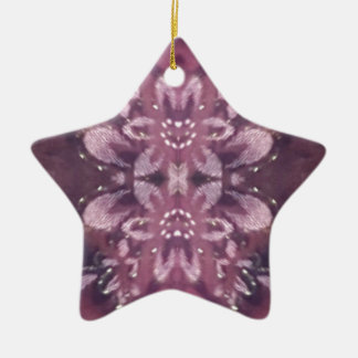 Ornamento De Cerâmica Floral artístico da lavanda chique bonito de