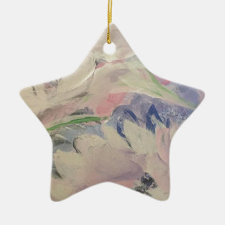 Ornamento De Cerâmica Floral Pastel