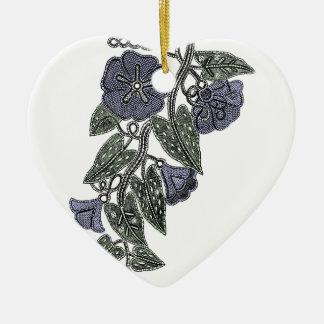 Ornamento De Cerâmica Flores 2 do laço