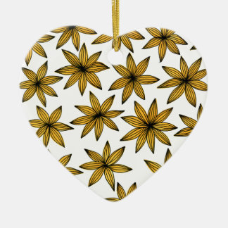 Ornamento De Cerâmica Flores amarelas