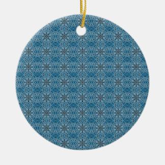 Ornamento De Cerâmica Flores azuis