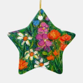 Ornamento De Cerâmica Flores brilhantes