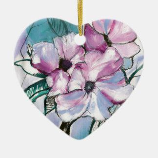 Ornamento De Cerâmica Flores cobertas