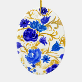 Ornamento De Cerâmica Flores coloridas