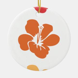 Ornamento De Cerâmica Flores coloridas do hibiscus