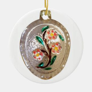 Ornamento De Cerâmica Flores da árvore de fruta