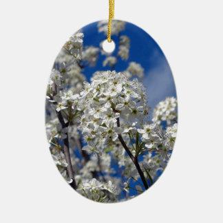 Ornamento De Cerâmica Flores da pera de Bradford