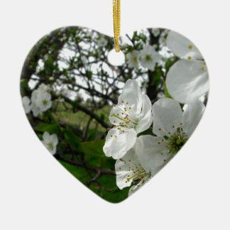 Ornamento De Cerâmica Flores de Apple