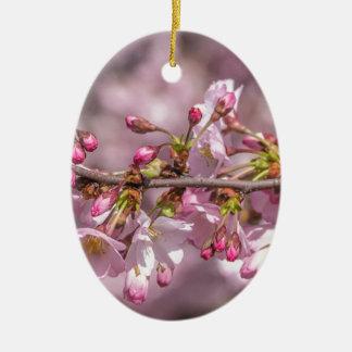 Ornamento De Cerâmica Flores de cerejeira