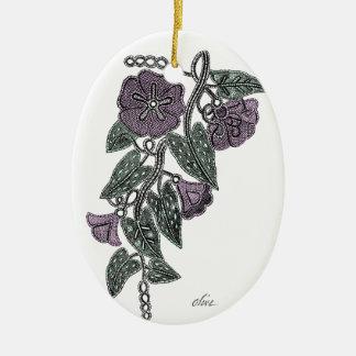 Ornamento De Cerâmica Flores do laço