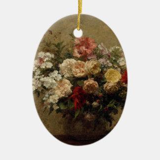 Ornamento De Cerâmica Flores do verão - realismo