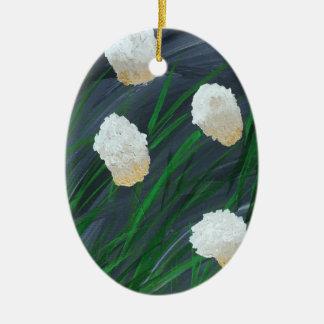 Ornamento De Cerâmica Flores em uma tempestade
