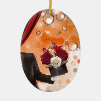 Ornamento De Cerâmica Flores mágicas para uma pessoa muito especial