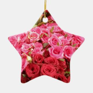 Ornamento De Cerâmica Flores nas Filipinas, no rosa e nas rosas