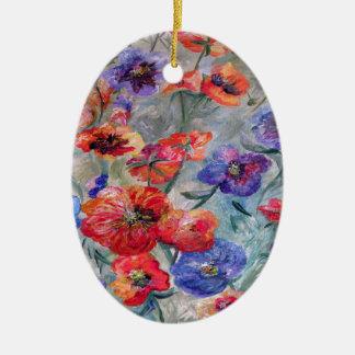 Ornamento De Cerâmica Flores no campo do verde