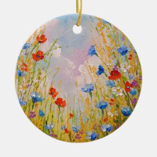 Ornamento De Cerâmica Flores selvagens