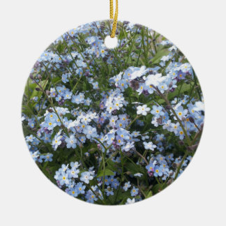 Ornamento De Cerâmica Flores selvagens azuis do miosótis