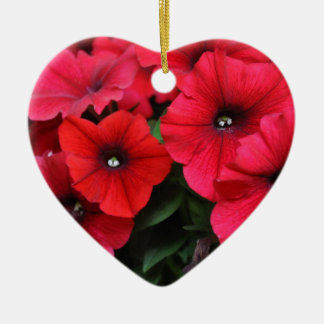 Ornamento De Cerâmica Flores vermelhas do petúnia