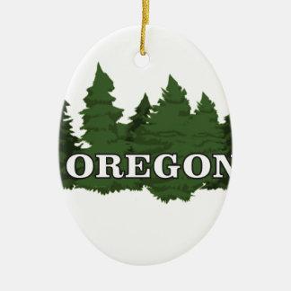 Ornamento De Cerâmica Floresta de Oregon