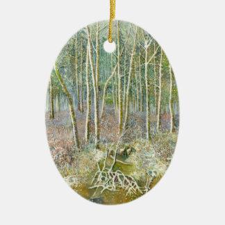 Ornamento De Cerâmica floresta do inverno