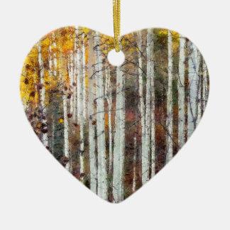 Ornamento De Cerâmica Floresta enevoada do vidoeiro