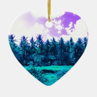 Ornamento De Cerâmica Floresta tropical de Bali