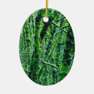 Ornamento De Cerâmica Floresta verde