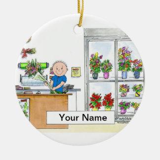 Ornamento De Cerâmica Florista - homem