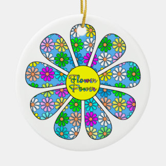 Ornamento De Cerâmica Flower power feliz
