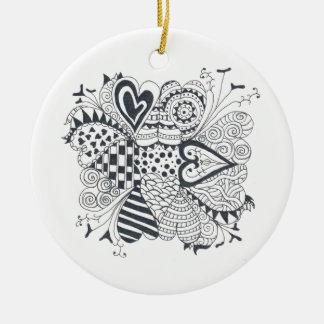 Ornamento De Cerâmica FlowerofHearts